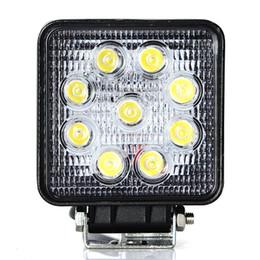 $enCountryForm.capitalKeyWord Canada - 4pcs 4 inch 27W led work light lamp offroad Spot Flood 12V led tractor work lights for Trucks off road 4X4 car ATV boat fog driving
