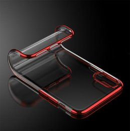Clear Gel Iphone Cases NZ - For iPhone X XR XS Max Plating Soft Clear TPU Colorful Silicone Transparent Gel Cover Phone Case For iPhone 8 7 6 plus
