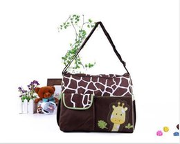 diapers pattern Canada - Brand New 2014 large Capacity Mummy Mags Hot Sale Cartoon Pattern Multi Function Baby Diaper Bags Tote Organizer Bolsas