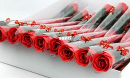 $enCountryForm.capitalKeyWord Canada - Fashion Hot Red pink rosy red blue purple soap rose flower Bath Body Flower romantic Bath Soap Petals Wedding Decoration Gifts