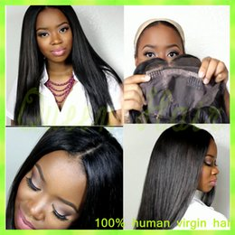 burgundy straight lace wigs Canada - African American Wigs with Fringe Full Lace Human Hair Wig Straight Full Bangs Virgin Brazilian Lace Front Wigs for Black Women