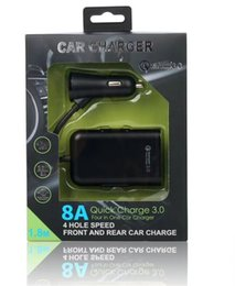 Discount usb power port for car - 4 in 1 8A 4 Usb Ports QC 3.0 Fast Quick Charging Car charger auto power adapter for iphone 7 8 Samsung s6 s7 s8 android