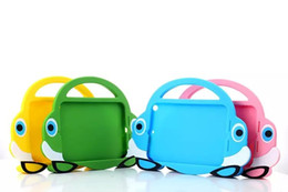 $enCountryForm.capitalKeyWord Canada - 25pcs Sports car style eyes Silicone Case for iPad mini123 for Kids Tablet Carry Bag Smart handle Cover for ipad Mini 2 3