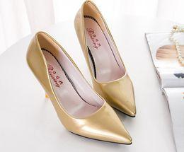 $enCountryForm.capitalKeyWord Australia - Bridal shoes wedding shoes red high-heeled shoes wedding shoes bridesmaid shoes Gold Silver Round 34-39