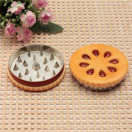 ShiSha partS online shopping - zinc alloy cookie biscuit shape part tobacco herb grinder crusher rolling machine shisha hookah pipe vaporizer
