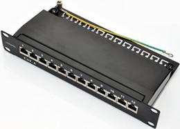 """venda por atacado SOHO 10 """"Cat.6 12port patch panel totalmente blindado com rack de suporte de gerenciamento de cabos rackmount"""