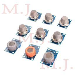Atacado-módulo de detecção de gás MQ-2 MQ-3 MQ-4 MQ-5 MQ-6 MQ-7 MQ-8 MQ-9 MQ-135 cada um deles 1pcs total 9pcs sensor para kit arduino em Promoção