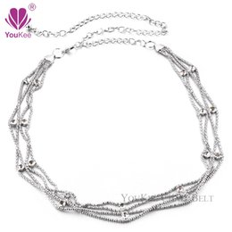 ladies chain belts Australia - Fashion Double Rhinestone Chain Belts For Women Silver Plated Cintos Femininos Female Ladies Metal Belts ( BL-564) YouKee Belt