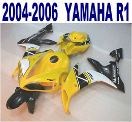 $enCountryForm.capitalKeyWord Canada - 100% Injection molding high quality bodykits for YAMAHA fairings 2004-2006 YZF-R1 yellow white black fairing kit 04 05 06 yzf r1 VL35