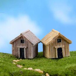 $enCountryForm.capitalKeyWord NZ - Miniature Resin Wooden House Handicraft Moss Terrarium Micro Landscape Assembled Small Decoration Toys Fairy Garden Bonsai Craft DIY