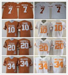 e303c385c ... Texas Longhorns College 7 Shane Buechele Jersey Retro Orange White 34  Ricky Williams 20 Earl Campbell ...