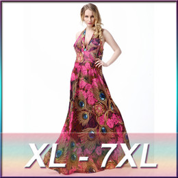 64de3eb4660 2016 Long Boho Beach Sexy Maxi Dresses Plus Size Flower Print Dress For Women  Vestidos Longo Estampado Backless 4xl 5xl 6xl 7xl