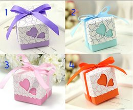Discount pearls favors - NEW candy box Hollow out love pearl paper candy box Wedding Bridal Favors Candy Party Boxes Favor AT03