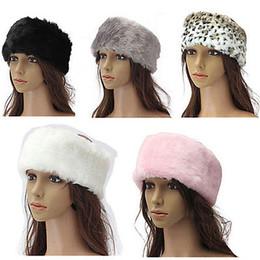 $enCountryForm.capitalKeyWord Canada - Wholesale-Fashion Ladies Fur Wrap Around Headband Head Band Ear Muffs Ski Warmer Hood Gift