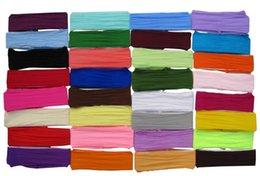120 шт. / Лот 2.5 '' нейлоновая повязка на голову детские ленты для волос 32 цвет для вашего выбора бесплатная доставка