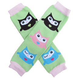 Chinese  children cute green brown owl Leg wamer for choose Baby spring autumn keep keen warm Leggings Socks adult arm warmers hot sale 12pair manufacturers