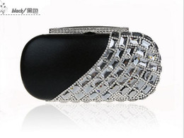 black purse gold chain 2018 - Women Fashion Handmade Perfect diamond Geometric Rhinestone Beads Ring clutch bags Handbag purse Evening Bag banquet 043