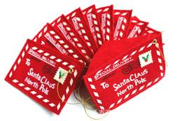 $enCountryForm.capitalKeyWord UK - 2015 Creative Small folding greeting cards Non-Woven Christmas Envelope Christmas Cards Candy Bag Christmas Tree Ornament 12*8cm 4.5g