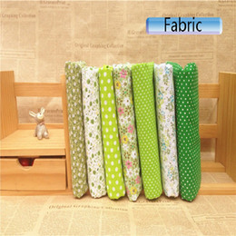 $enCountryForm.capitalKeyWord Canada - mixed 7design green Printed Cotton Fabric plain weave for Handmade Sewing Material Patchwork Curtain Needlework DIY craft 25 50cm new