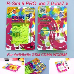 Iphone 3g NZ - Original R-SIM 9 RSIM9 R-SIM9 Pro Perfect SIM Card Unlock Official IOS 7 7.0.6 7.1 ios7 RSIM 9 for iphone 4S 5 5S 5C GSM CDMA WCDMA 3G 4G