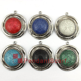 CirCle jewelry neCklaCe sCarves online shopping - Fashion Design DIY Necklace Pendant Scarf Jewelry Colors Mixed Charm Resin Round Plate Jewelry Scarf Pendant AC0356
