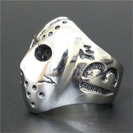 $enCountryForm.capitalKeyWord NZ - 1pc Fast Free Shipping New Number 13 Mask Skull Ring 316L Stainless Steel Popular Fashion Gothic Style Mask Ring