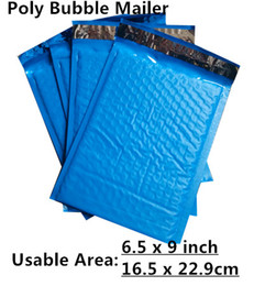 Venta al por mayor de Estilo al por mayor-nuevo [PB # 69 +] - Azul 6.5X9inch / 165X229MM Espacio utilizable Sobres de correo burbuja de poliéster acolchado Bolsa de correo Self Sealing [50pcs]