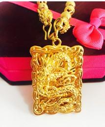collana di ciondolo drago riempito in oro da uomo chaming dfdf in Offerta