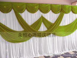 $enCountryForm.capitalKeyWord Canada - 2015 New Fashion 3*6m Wedding Party Stage Celebration Background Satin Curtain Drape Pillar Ceiling Backdrop Marriage decoration Veil