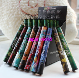 ShiSha penS electronic e hookah online shopping - E ShiSha Hookah Pen Disposable Electronic Cigarette Pipe Pen Cigar Fruit Juice E Cig Stick Shisha Time Puffs Colorful Flavors
