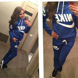 Wholesale women's sweatshirts online – oversize HOT FREE Women s Clothin SHIPPING New Arrival Women active set tracksuits Hoodies Sweatshirt Pants Running Sports set long sleeves and pants
