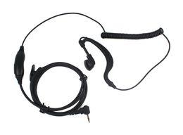10pcs 1 PIN PTT Auricular MIC PARA Motorola Radios Curl Line 2.5mm T6200 T6210 T6220 T6250 T6300 T6400 T7200 Negro C021 Alishow