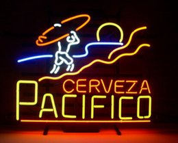 "mexican glasses Canada - Pacifico Cerveza Clara Mexican Neon Sign Custom Hand-crafted Real Glass Tube Beer Bar KTV Store Motel Restaurant Display Neon Signs 19""X15"""