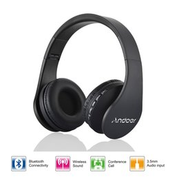 Wireless Headphones 4.1 Canada - High quality Andoer LH-811 Digital 4 in 1 Stereo Bluetooth 3.0 + EDR Headphones Wireless Headset Music Earphone with Micphone