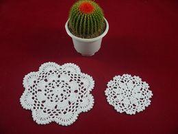 $enCountryForm.capitalKeyWord NZ - wholesale handmade Crocheted Doilies White lace cup mat vase Pad, 100% cotton coaster 2 Design 10-16 cm table mat 20PCS LOT tmh226