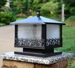 Continental Column Headlights Outdoor Lights Waterproof Lawn Lamp Door  Walled Courtyard Garden View Villa Post Lights 25CM*25CM