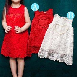 $enCountryForm.capitalKeyWord Canada - lace and pearl dresses for baby love heart dress for girls sweet lace vest dress princess sleeveless dress children free shipping in stock