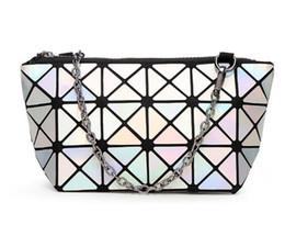 La nuova borsa cosmetica delle donne di modo sacchetto geometrico del lingge piegante compone le borse per le borse di bellezza delle signore