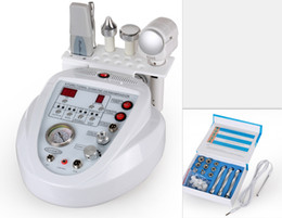 Ultrasonic Hot Cold Machine Canada - 5 In 1 Ultrasonic Skin Scrubber Hot&Cold Hammer Dermabrasion Machine Multifunction For Skin Rejuvenation Anti Wrinkle Salon Beauty Machine