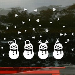 Freeze Paper Canada - CH-46 Christmas Snowman Wall Stickers Xmas Frozen Snow Flakes Wall Decor Wall PVC Stickers Christmas Design Decal Free Shipping