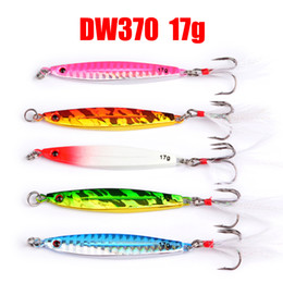 $enCountryForm.capitalKeyWord Canada - 5pcs Fishing Lure 17g Lead Fish Hook with feather 5 color fishing Bait Casting Lure Fishing Tackle Exported to Japan
