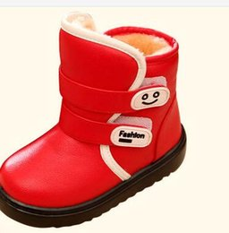 Discount toddler snow shoes 2018 New Winter Children Snow Boots For Girls Fur Boot Fashion Kids Shoes Keep Warm Toddlers Girl Leather Plush Boots Size 23-36
