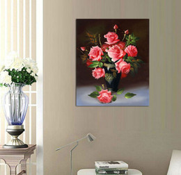 $enCountryForm.capitalKeyWord Canada - 1 panel wall art pictures for living room home decoration printed on canvas oil paintings red rose flowers