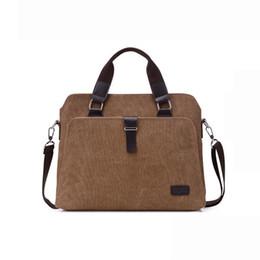 $enCountryForm.capitalKeyWord Canada - Men's Laptop Handbag vintage Canvas Business Briefcase Crossbody bag Single Shoulder Bag Messenger Handbag free shipping