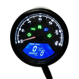 motorcycle digital tachometers UK - 12000 RMP kmh mph Universal Motorcycle Tachometer LCD Digital Odometer Speedometer Gear indicator Scooter Golf Carts ATV