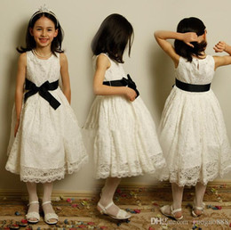 $enCountryForm.capitalKeyWord Canada - Beautiful Jewel Applique Sash Net Baby Girl Birthday Party Christmas Princess Dresses Children Girl Party Dresses Flower Girl Dresses2015