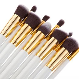 $enCountryForm.capitalKeyWord Canada - 10pcs Makeup Brush Set For Women Professonal Kabuki Brush Cosmetic Brush Make Up Brush Kits Foundation Eyeliner Brushes Free Shipping