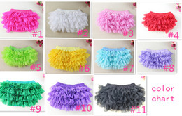 Hot Girls Diapers Canada - Hot Sale Girls Bloomer Soft Cotton Baby Bloomer Lace Ruffle Diaper Cover For Kids 3pcs lot