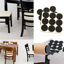 18Pcs Black Self Adhesive Furniture Protection  Cushion Non Scratch Wall  Chair Table Legs Floor Protector Pads