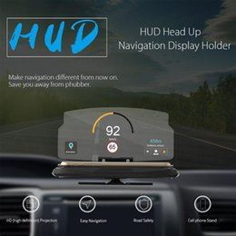 Discount head hud - Fashion 6.5 Inch Universal Car HUD Holder Head Up Display Projector Bracket For GPS Navigation For iPhone free shipping